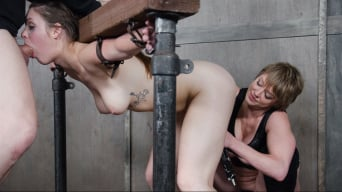 Nora Riley に 'gets spit roasted, cocks from both sides, made to cum over and over. Squirting orgasms!'