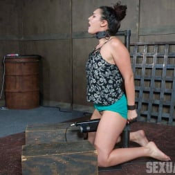 Paisley Parker in 'Insex' is bound in hard metal, stuck on a vibrator, and brutally face fucked, stupid. (Thumbnail 2)