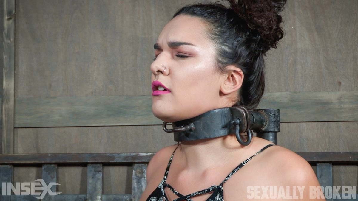 Insex 'is bound in hard metal, stuck on a vibrator, and brutally face fucked, stupid.' starring Paisley Parker (Photo 3)