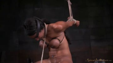 Sadie Santana - Exotic Sadie Santana strictly restrained in brutal bondage, multiple orgasms, drooling deepthroat!