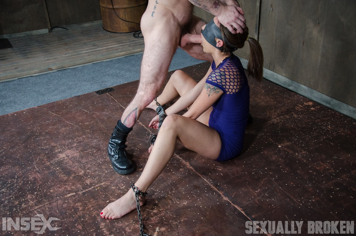 Insex 'is bound, blindfolded, vibrated, to brutal orgasms while being facefucked to subspace' starring Sophia Grace (Photo 1)
