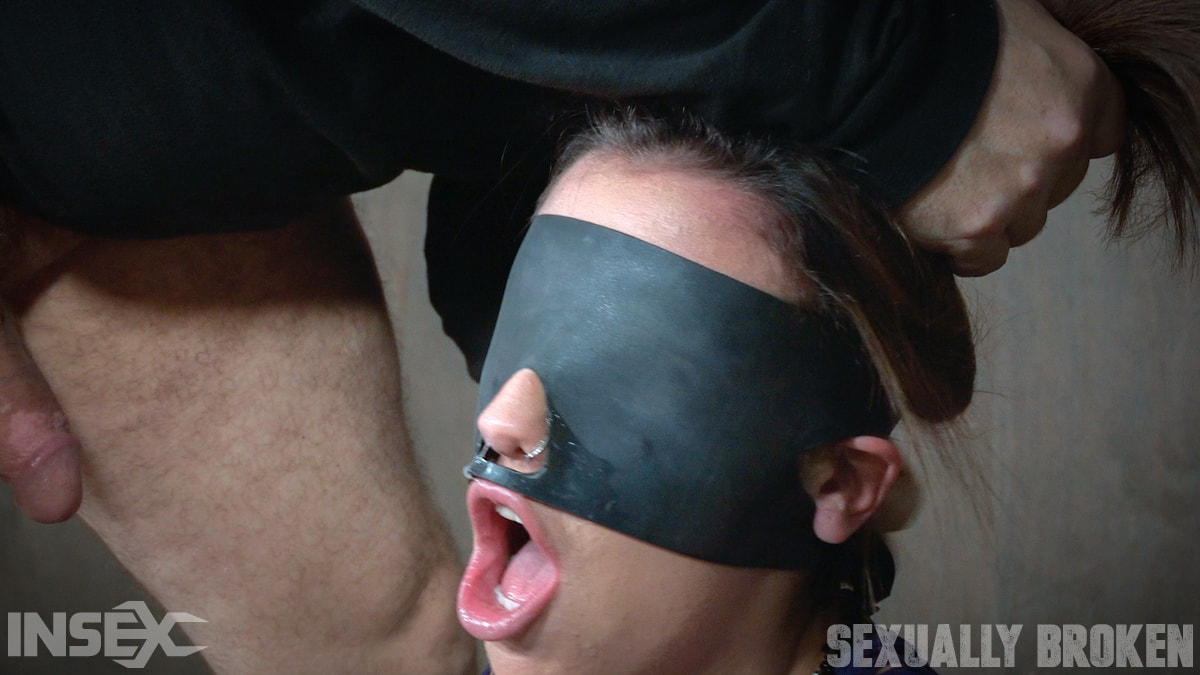 Insex 'is bound, blindfolded, vibrated, to brutal orgasms while being facefucked to subspace' starring Sophia Grace (Photo 8)
