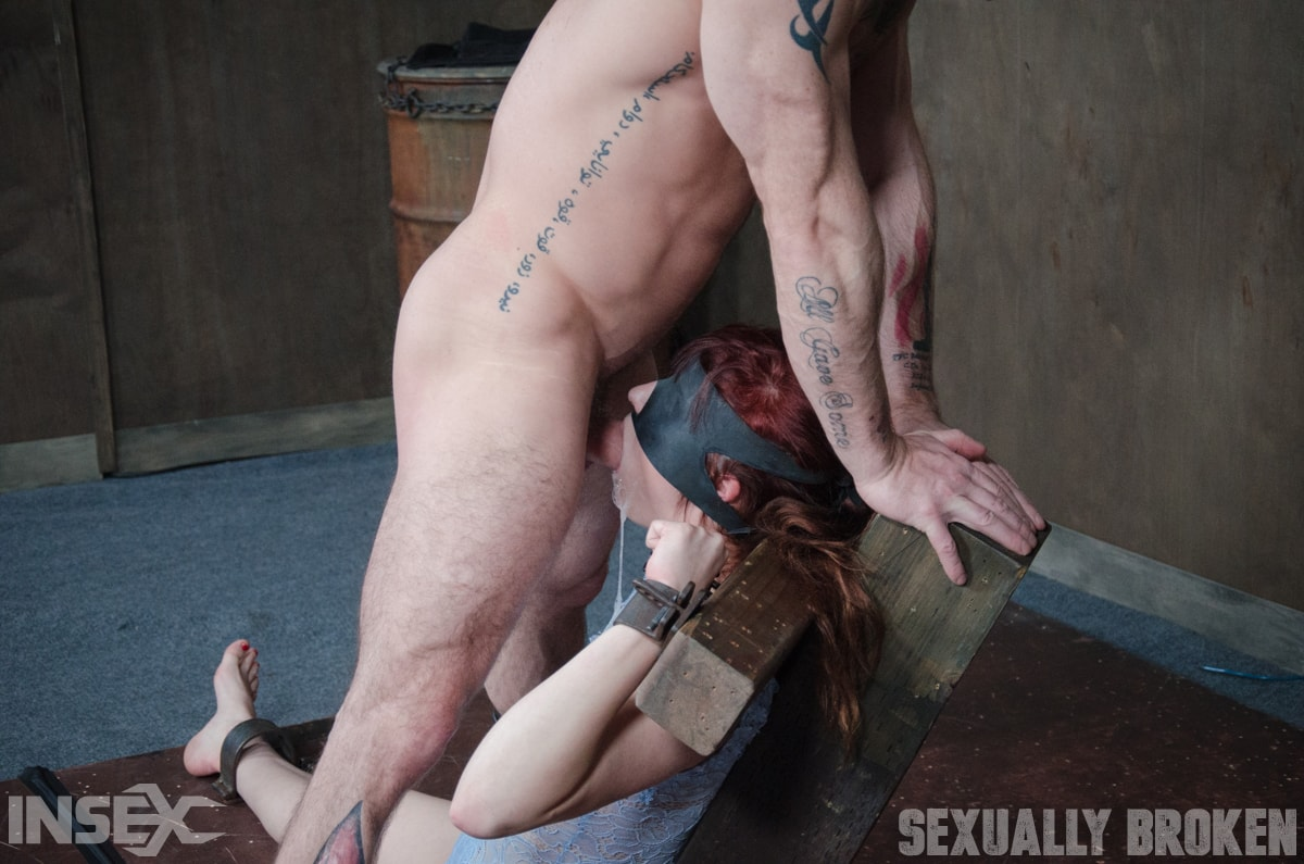 Insex 'is bound on a vibrator, while being brutally face fucked and deep throated!' starring Stephie Staar (Photo 14)