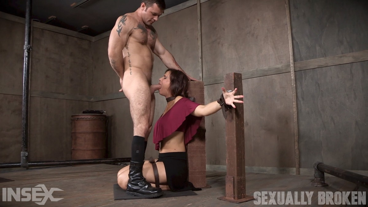 Insex 'Sexy MILF Syren De Mer gets what she wants; brutal face fucking, two cock beatdown!' starring Syren De Mer (photo 11)