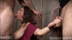 Syren De Mer - Sexy MILF Syren De Mer gets what she wants; brutal face fucking, two cock beatdown! (Thumb 02)