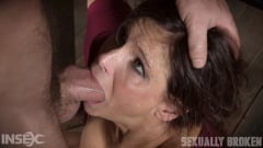 Syren De Mer - Sexy MILF Syren De Mer gets what she wants; brutal face fucking, two cock beatdown! (Thumb 07)