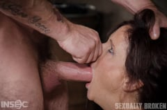 Syren De Mer - Sexy MILF Syren De Mer gets what she wants; brutal face fucking, two cock beatdown! (Thumb 12)