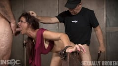 Syren De Mer - Sexy MILF Syren De Mer gets what she wants; brutal face fucking, two cock beatdown! (Thumb 13)