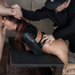 Syren De Mer in 'Insex' helpless in a straight jacket, manhandled back and forth, throated and roughly fucked! (Thumbnail 1)