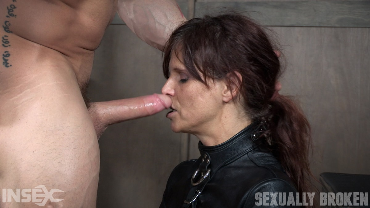 Insex 'helpless in a straight jacket, manhandled back and forth, throated and roughly fucked!' starring Syren De Mer (Photo 8)