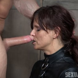Syren De Mer in 'Insex' helpless in a straight jacket, manhandled back and forth, throated and roughly fucked! (Thumbnail 8)