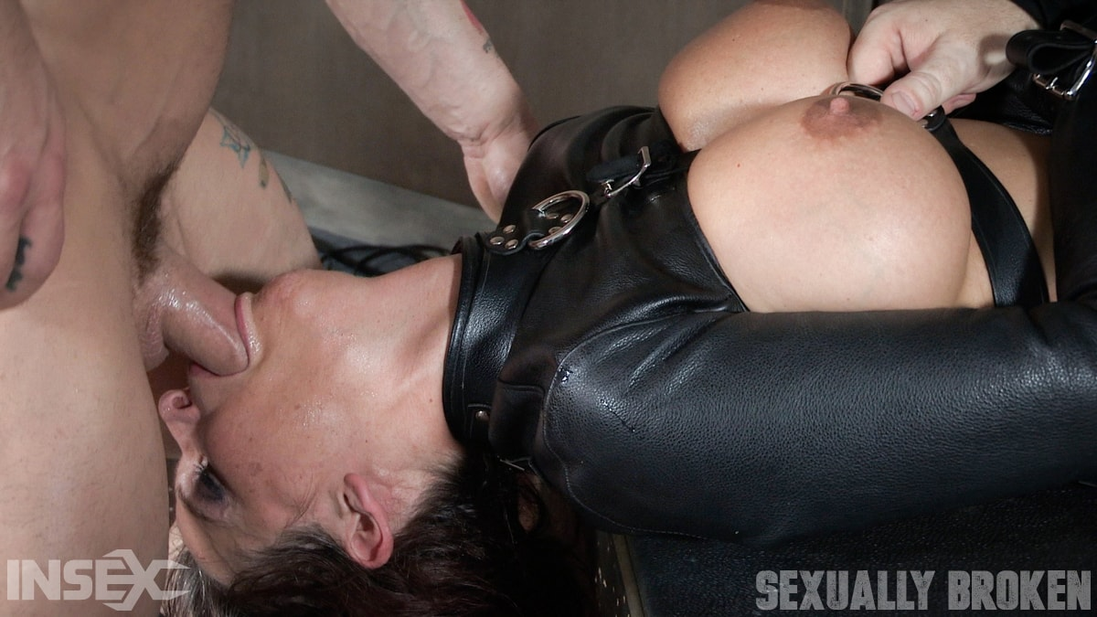 Insex 'helpless in a straight jacket, manhandled back and forth, throated and roughly fucked!' starring Syren De Mer (Photo 13)