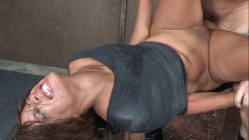 Verta - Verta is bound down hard and fucked harder. Brutal face fucking and cervix pounding creates orgasms