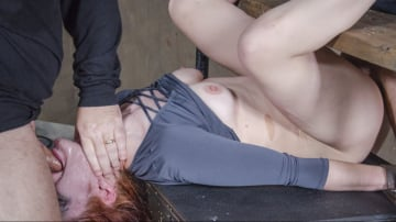 Violet Monroe - Violet Monroe BaRS Part 3: Double stuffed, bound and roughly fucked. Deep throated made to cum!